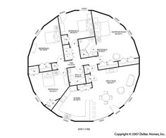Dome Home floorplan... incase I ever get to live in a light house
