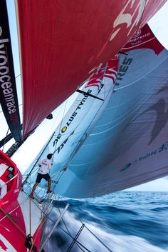 Volvo Ocean Race - Sanya to Auckland - Dongfeng by S Greenfield