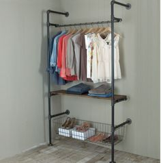 Going to turn a bedroom into a full blown walk in closet!