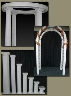 Wedding Arches With Columns And White Silver