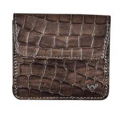 Klappbörse Golden Head Cayenne Taupe Lack Krokoprägung grau - Bags & more Header, Rind, Card Holder, Wallet, Bags, Taupe Colour, Handbags, Rolodex, Purses