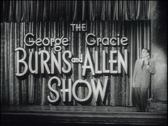 george burns show   The George Burns And Gracie Allen Show (1950-58)   Vintage45's Blog