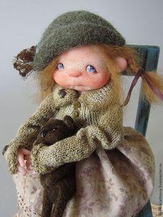 """Купить """"Подкидыш Жужа"""" - коллекционная кукла, авторская кукла, куклы ксении зайцевой, девочка, малышка"""