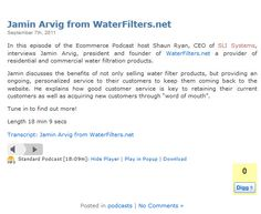 Jamin Arvig from WaterFilters.net - Sept 2011 @SLISystems