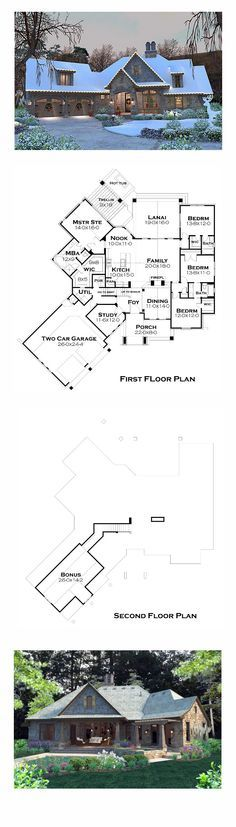Best Selling House Plan 75134 | Total Living Area: 2482 sq. ft., 4 bedrooms and 3.5 bathrooms. #bestsellinghome
