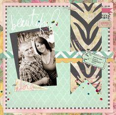 Lorrie's Story: Heidi Swapp Sugar Chic Engagement Layout