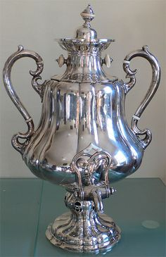 Russian Silver Samovar... tea tastes much better in these... ;)