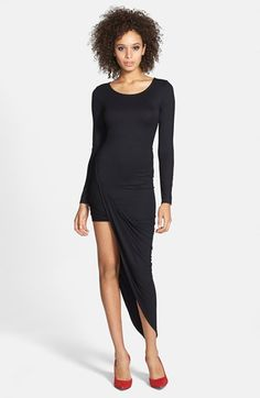 ASTR Twist Wrap Asymmetrical Body-Con Dress available at #Nordstrom