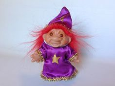 1986 Red Hair DAM Troll WIZARD by ThoughtfulVintage on Etsy