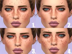 "savagesimbaby: "" I see you guys using my Frecklezilla for most of your sims, live no more in a vortex of faux paux. Here are some more freckles and moles to counteract that boring look you been going..."