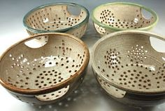 Bridges Pottery Blog: Colanders