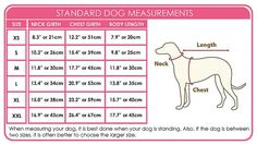 Standard dog measurements...