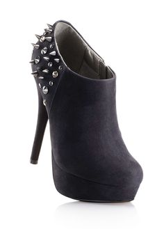 black ankle boots with revets