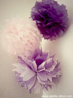 Vanille Citron ☁ Le Blog ☁: ★ DIY ★ Déco de pompons