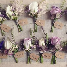 Lilac, pink and ivory buttonholes www. - Lilac, pink and ivory buttonholes www.rose-cottage-… Lilac, pink and ivory but - Wedding Arrangements, Wedding Centerpieces, Flower Arrangements, Wedding Decorations, Tall Centerpiece, Church Decorations, Purple Wedding Bouquets, Floral Wedding, Wedding Colors