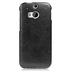 DESIGNER EMBOSSED VINTAGE HIGH QUALITY PU LEATHER FLIP CASE COVER FOR HTC ONE M8 Black