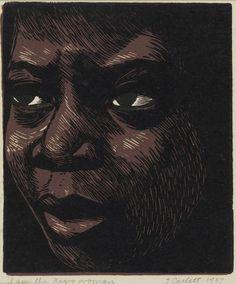 """I am the Negro Woman"""", 1947, linocut by Elizabeth Catlett. Catlett ..."""