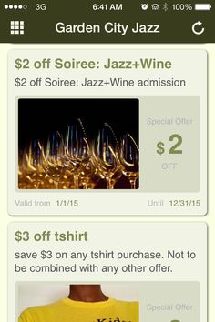 Discount tix for jazz events. Augusta GA