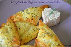Triangoli di Pasta Sfoglia ripieni con #Prosciutto cotto e #Ricotta