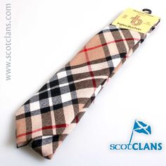 Thompson Camel Tartan Tie. Free Worldwide Shipping Available