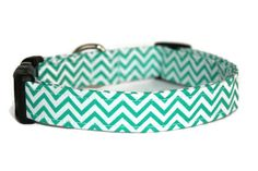 Teal Chevron Dog Collar by ALeashACollar on Etsy Handmade Dog Collars, Handmade Gifts, Teal Chevron, Turquoise Bracelet, Belt, Personalized Items, Dog Stuff, Trending Outfits, Unique Jewelry