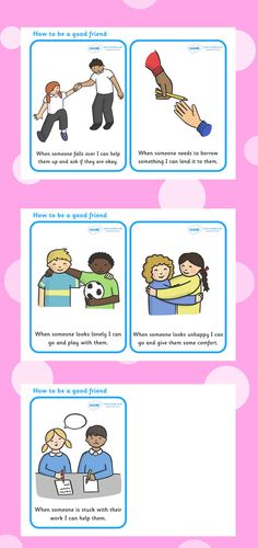 Twinkl Resources >> How To Be A Good Friend Cards >> Printable resources for Primary, EYFS, KS1 and SEN.  Thousands of classroom displays and teaching aids! Behaviour, Cards, Friends