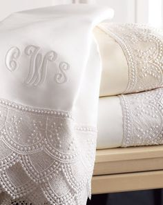 Lace sheets from Neiman Marcus