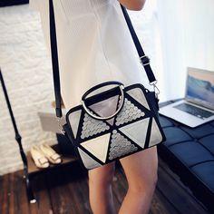 Bailar rivet retro totes Splice shoulder messenger bag women handbag tangle pattern fashion high quality leather famous bags