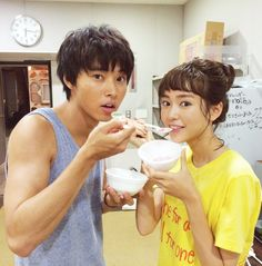 """snow cone. this is it!!!""  [Preview, ep.4] https://www.youtube.com/watch?v=71EJRporFrI     Mirei Kiritani x Kento Yamazaki x Shohei Miura x Shuhei Nomura, Nanao, Sakurako Ohara, J drama ""Sukina hito ga iru koto (A girl & 3 sweethearts)"", air on Aug/01/2016"