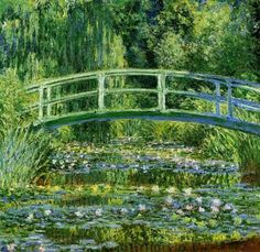 Water Lily Pond by Claude Monet (1840-1926)  #ClaudeMonet
