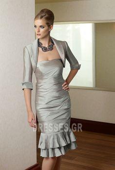 b8a3aba7564a σικ+Με+σακάκι+Θήκη+πιέτα+Στράπλες+Φυσικό+Μητέρα+φόρεμα
