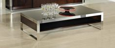 B131D - Modern Ebony Lacquer Coffee Table