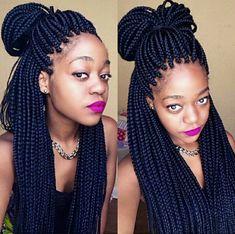 Box-braids style #loveit!