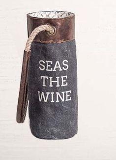 Seas The Wine Canvas Wine Bag