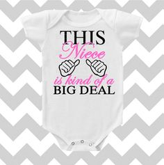 Items similar to This Nephew is kind of a Big Deal CUSTOMIZE Font Color bodysuit by Simply Chic Baby Boutique on Etsy My Baby Girl, Our Baby, Cute Babies, Baby Kids, Chic Baby, Niece And Nephew, Baby Boutique, Baby Bodysuit, Baby Fever