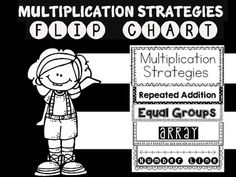 Use this multiplication strategies flip chart to help your students with multiplication combinations.  Just print, cut and staple.  Use bright colored paper to make it look fun or use white paper and let your kids color the pages.  Thanks to melonheadz for the clip art.