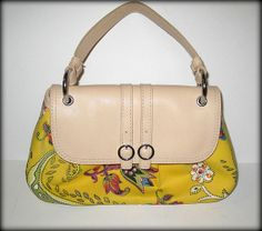 'New Aigner Small Paisley Baguette – New without Tags ' is going up for auction at  8pm Mon, Apr 21 with a starting bid of $15.