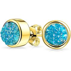 Bling Jewelry Teal Sparkle Studs ($15) ❤ liked on Polyvore featuring jewelry, earrings, blue, stud-earrings, sparkle jewelry, christmas jewelry, blue druzy earrings, sparkly earrings and druzy earrings