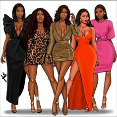 Black Love Art, Black Girl Art, Black Girls Rock, Black Is Beautiful, Black Girl Magic, Fashion Art, Fashion Outfits, Fashion Design, Black Women Quotes