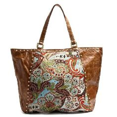 Gorgeous distressed tote