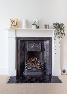 Fireplace styling - Bonnie & Russell's Scandi-Style Victorian