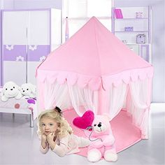 Princess Castle PLay Tent By Sid Trading fairy princess castle Sid Trading $60 perfect Christmas gift :)