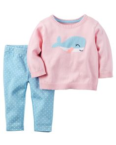 Baby Girl 2-Piece Little Sweater Set from Carters.com. Shop clothing & accessories from a trusted name in kids, toddlers, and baby clothes.