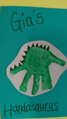 Dinosaur Handprint | Arts & Crafts idea for Children More