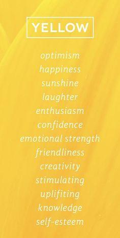 aesthetic Yellow Color Psychology www. Yellow Color Psychology www. Foto Picture, Color Meanings, Color Psychology, Psychology Facts, Shades Of Yellow, Colour Yellow, Happy Colors, Mellow Yellow, Yellow Aura
