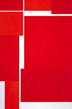 Ilya Bolotowsky: Vibrant Reds, 1971. Acrylic on canvas. Smithsonian American Art Museum.