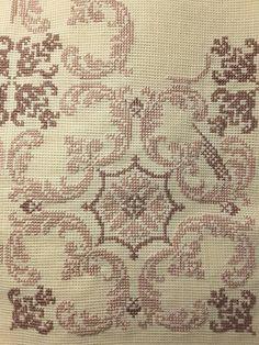 Ribbon Embroidery, Embroidery Art, Cross Stitch Embroidery, Embroidery Patterns, Cross Stitch Designs, Cross Stitch Patterns, Palestinian Embroidery, Cross Stitching, Blackwork