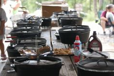 Alabama Dutch Oven Gathering Dutch Oven Cooking, Dutch Oven Recipes, Cast Iron Dutch Oven, Cast Iron Cooking, Camp Meals, Ovens, Southern Recipes, Outdoor Cooking, Alabama