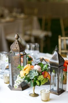 Moroccan lantern centerpieces // photo by Chris + Jenn Photography, styling by Styling Starts Here // view more: http://ruffledblog.com/romantic-agoura-hills-wedding