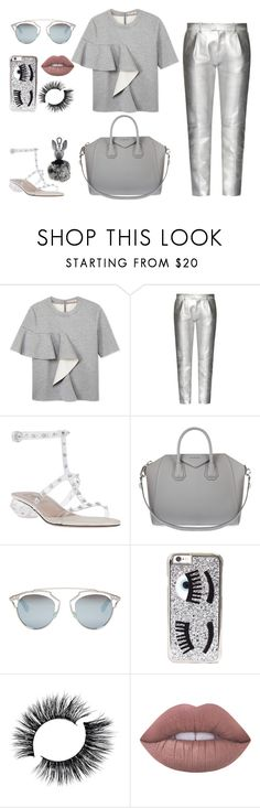 """""""silver"""" by faye-valentine ❤ liked on Polyvore featuring Marni, Tod's, Valentino, Givenchy, Christian Dior, Chiara Ferragni, Lime Crime and Kendall + Kylie"""